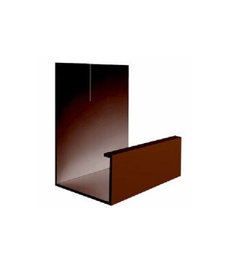 J-профиль Гибкий эконом коричневый
