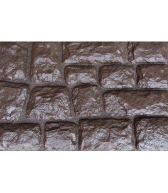 Фасадные панели Аэлит Камень Крупный Коричневый