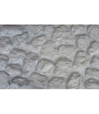 Фасадные панели Аэлит Камень Мелкий Белый