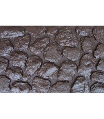 Фасадные панели Аэлит Камень Мелкий Коричневый