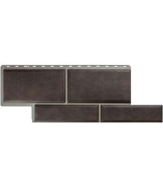 Фасадные панели Альта-Профиль Камень Флорентийский Коричневый