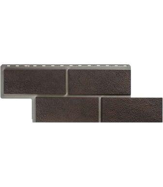 Фасадные панели Альта-Профиль Камень Неаполитанский Коричневый