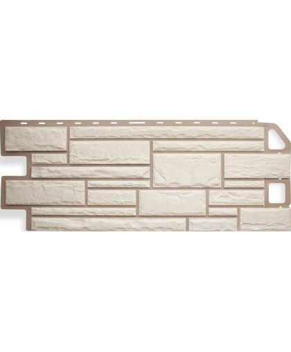 Фасадные панели Альта-Профиль Камень Белый