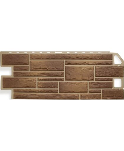 Фасадные панели (Цокольный Сайдинг) Альта-Профиль Камень Сланец