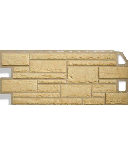 Фасадные панели (Цокольный Сайдинг) Альта-Профиль Камень Желтый
