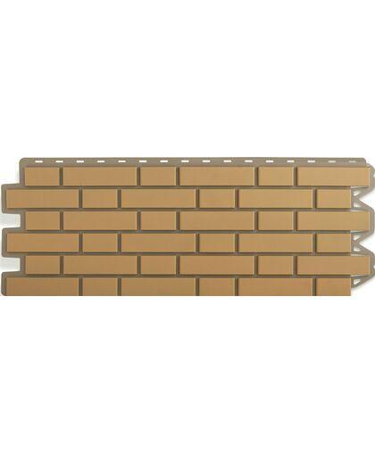 Фасадные панели (Цокольный Сайдинг) Альта-Профиль Кирпич Клинкерный Бежевый