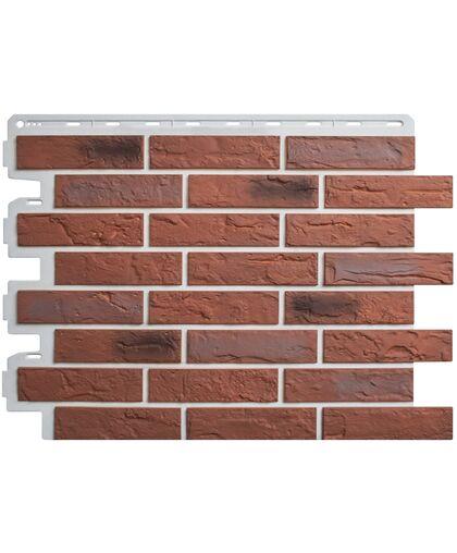 Фасадные панели (Цокольный Сайдинг) Альта-Профиль Кирпич Рижский 04