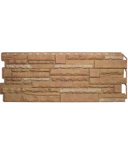 Фасадные панели (Цокольный Сайдинг) Альта-Профиль Скалистый Камень Памир Комби