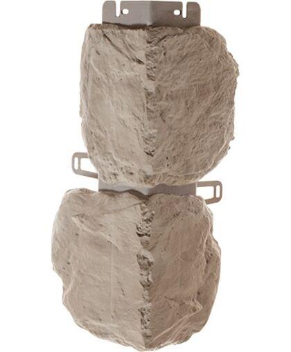 Угол наружный к Фасадным Панелям Альта-Профиль Бутовый Камень Нормандский