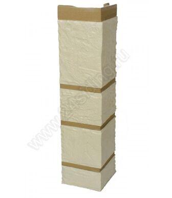 Угол наружный Альта-Профиль Камень Белый