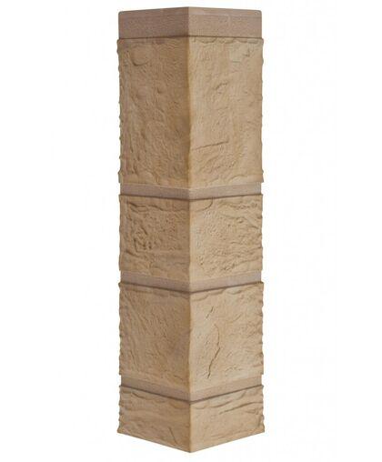 Угол наружный Альта-Профиль Камень Желтый