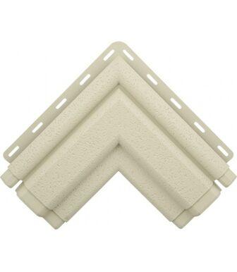 Угол наличника Классик белый Альта-Декор для фасадных панелей Альта-Профиль