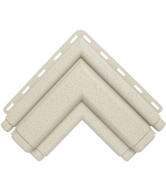 Угол наличника Классик кремовый Альта-Декор для фасадных панелей Альта-Профиль