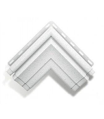 Угол наличника Модерн белый Альта-Декор для фасадных панелей Альта-Профиль