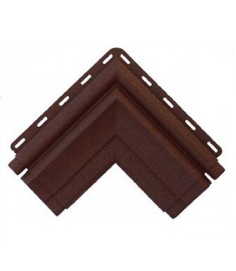 Угол наличника Модерн коричневый Альта-Декор для фасадных панелей Альта-Профиль