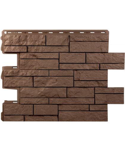 Фасадные панели (Цокольный Сайдинг) Альта-Профиль Шотландия Терракотовый