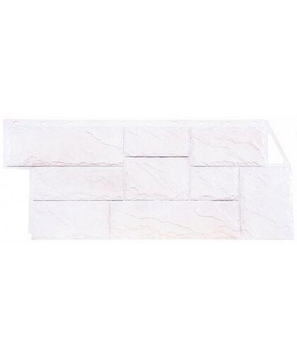 Фасадные панели Фасайдинг Дачный Камень Крупный Белый