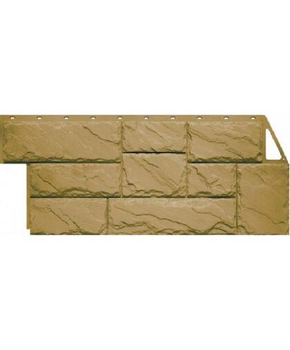 Фасадные панели Фасайдинг Дачный Камень Крупный Бежевый