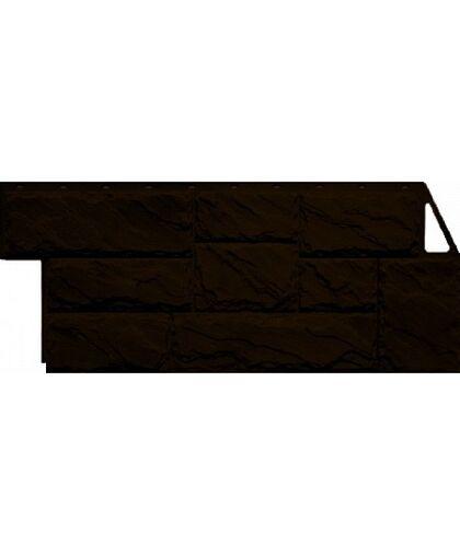 Фасадные панели Фасайдинг Дачный Камень Крупный Коричневый