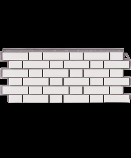 Фасадные панели Фасайдинг Дачный Кирпич Клинкерный Белый