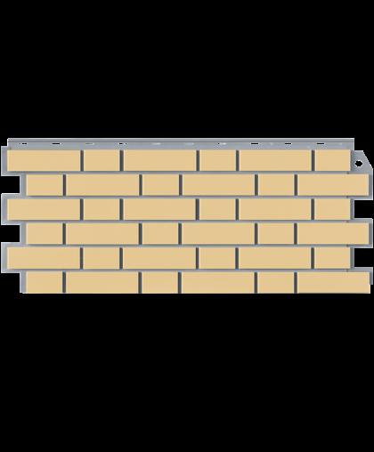 Фасадные панели Фасайдинг Дачный Кирпич Клинкерный Жёлтый