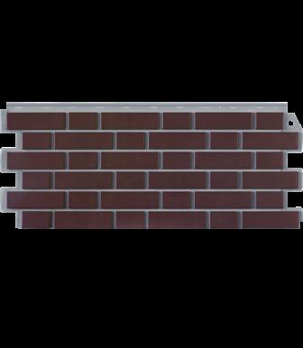 Фасадные панели Фасайдинг Дачный Кирпич Клинкерный Жжёный