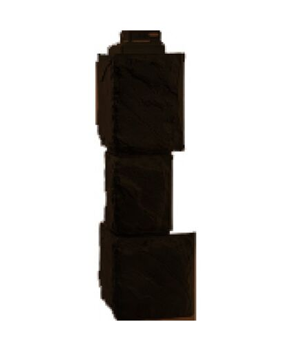 Угол наружный Фасайдинг Дачный Камень Крупный Коричневый