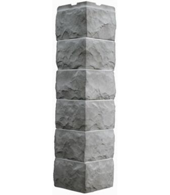 Угол наружный Фасайдинг Дачный Скол Светло- серый