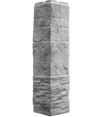 Угол наружный Фасайдинг  Дачный Туф Светло- серый