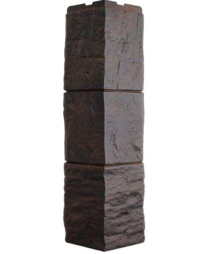 Угол наружный к Фасадным Панелям Фасайдинг Дачный Туф Тёмно-коричневый