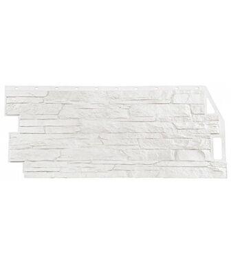 Фасадные панели Фасайдинг Дачный Скала Белый