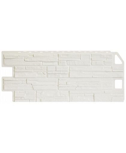 Фасадные панели Фасайдинг Дачный Сланец Белый