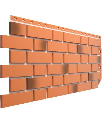 Фасадные панели (Цокольный Сайдинг) Docke (Деке) Flemish (Флемиш) Красный Жженый