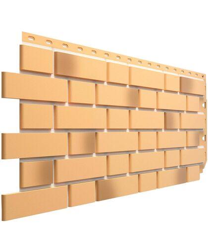 Фасадные панели (Цокольный Сайдинг) Docke (Деке) Flemish (Флемиш) Желтый жженый