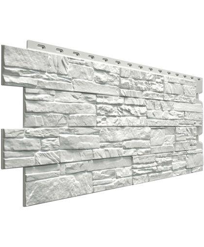 Фасадные панели (Цокольный Сайдинг) Docke (Деке) Stein (Слоистый Песчаник) Молочный