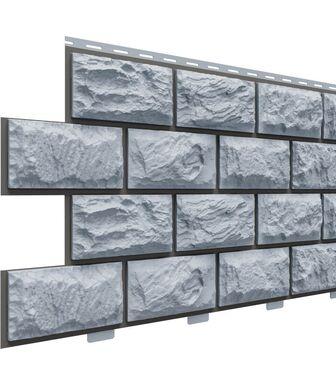Фасадные панели Доломит Альпийский Прокрашенный Серо-голубой