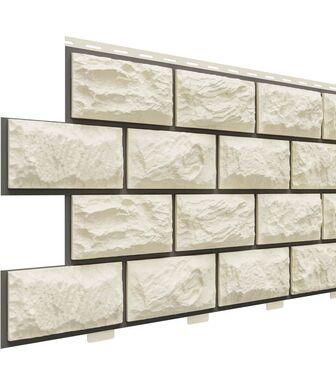 Фасадные панели Доломит Альпийский Прокрашенный Слоновая кость
