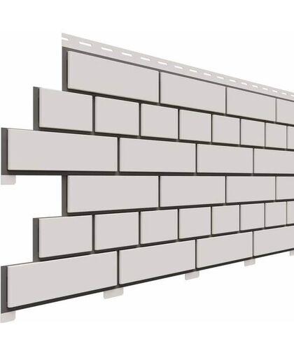 Фасадные панели (Цокольный Сайдинг) Доломит Кирпич Белый