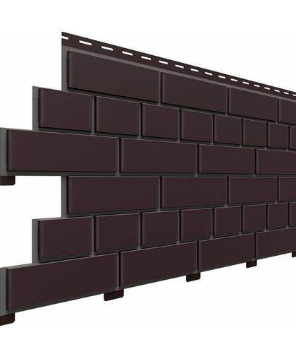 Фасадные панели Доломит Кирпич Коричневый