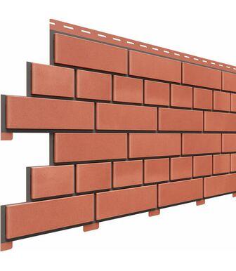 Фасадные панели Доломит Кирпич Красный