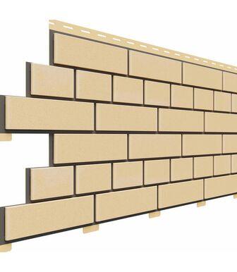 Фасадные панели Доломит Кирпич Светло-желтый