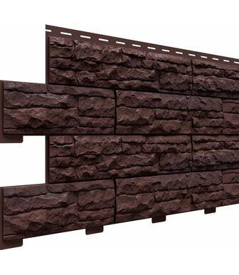 Фасадные панели Доломит Скалистый Риф Премиум Каштан