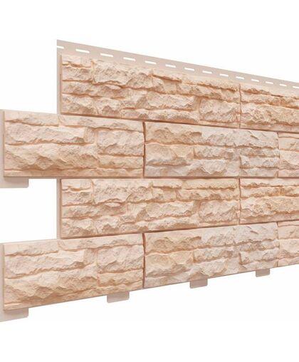 Фасадные панели Доломит Скалистый Риф Премиум Терракотовый