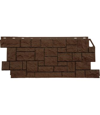 Фасадные панели FineBer Камень Дикий Коричневый