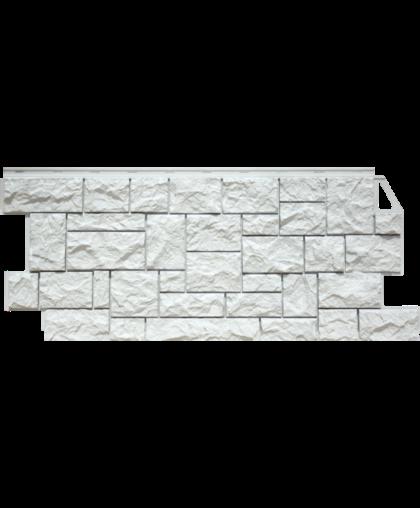 Фасадные панели FineBer Камень Дикий Мелованный белый