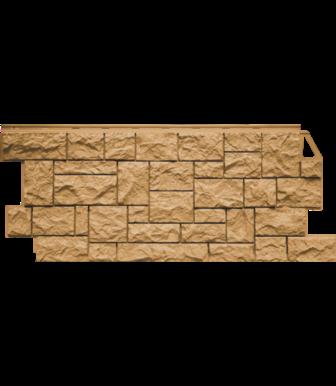 Фасадные панели FineBer Камень Дикий Песочный