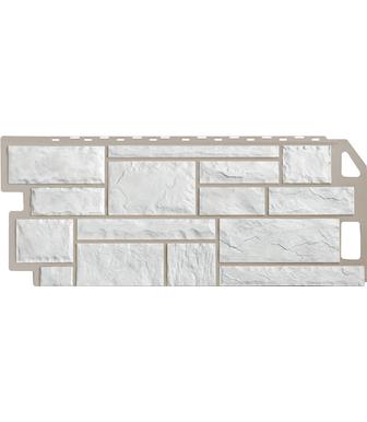 Фасадные панели FineBer Камень Мелованный белый