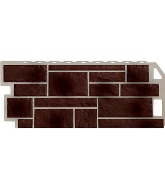 Фасадные панели FineBer Камень Коричневый