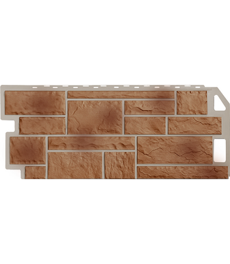 Фасадные панели FineBer Камень Терракотовый