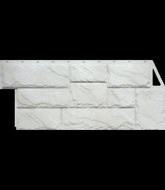 Фасадные панели FineBer Камень Крупный Мелованный белый